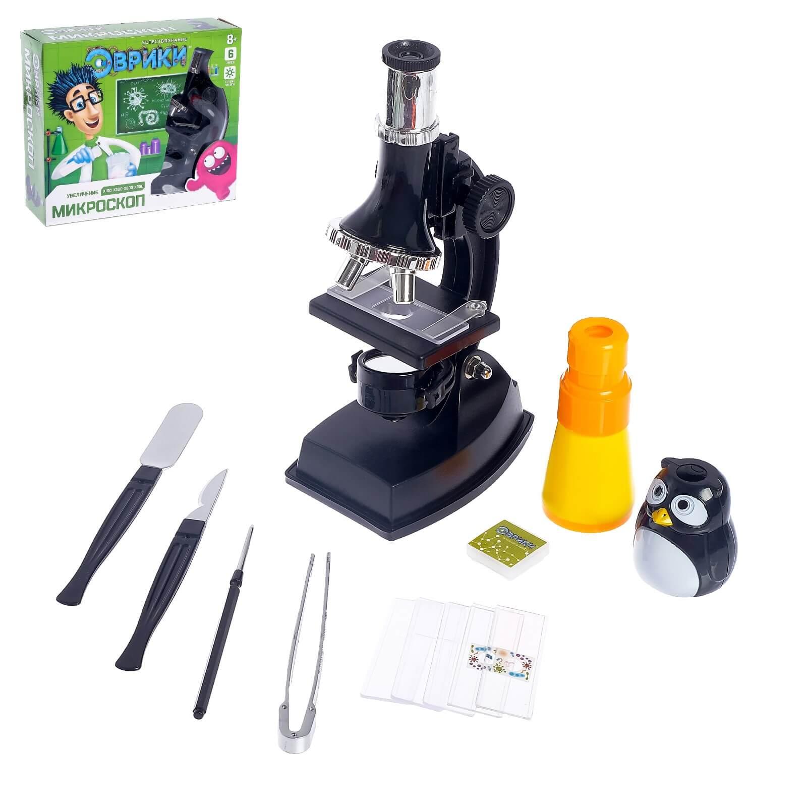 Набор для изучения микромира «Микроскоп + калейдоскоп»