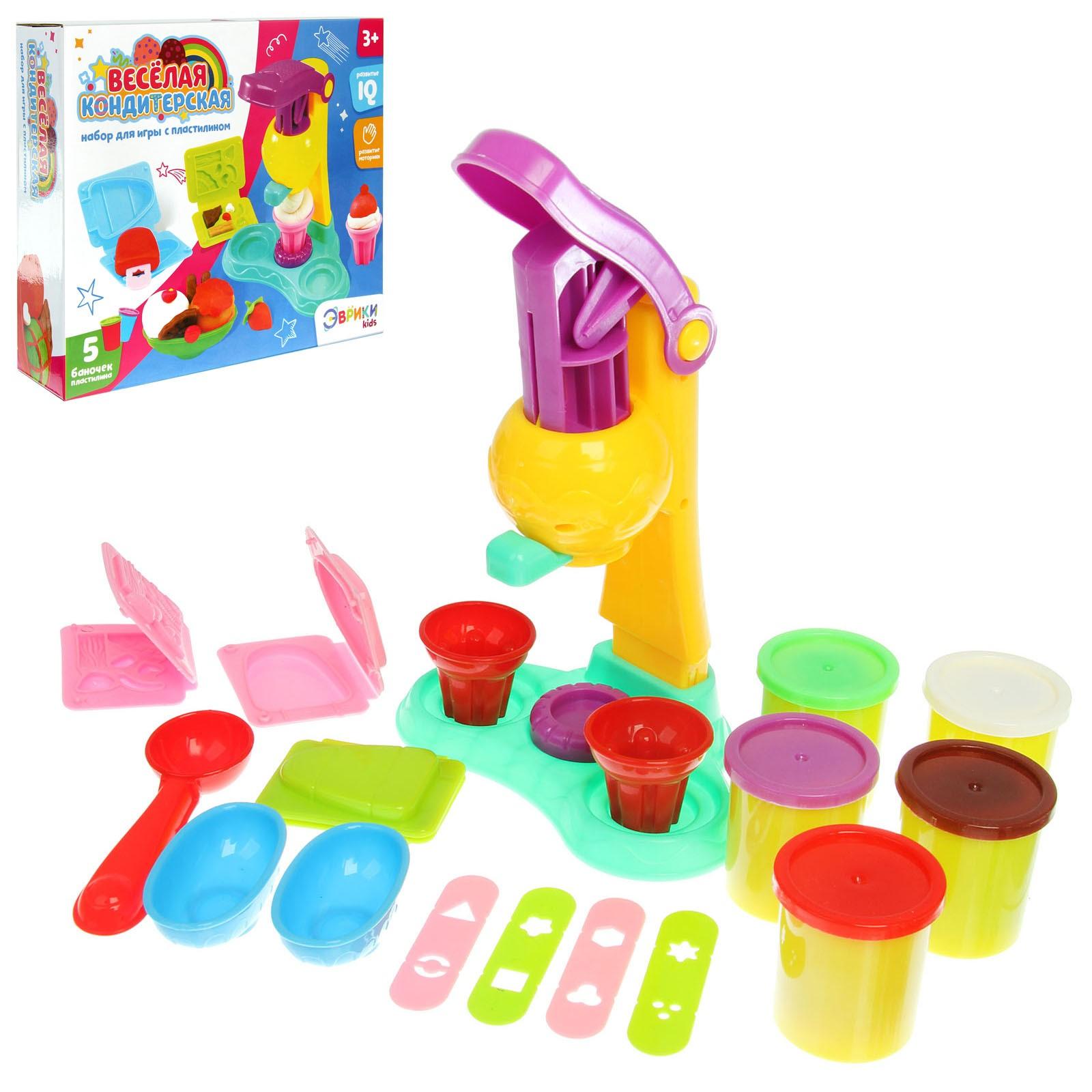 Набор для игры с пластилином «Весёлая кондитерская»