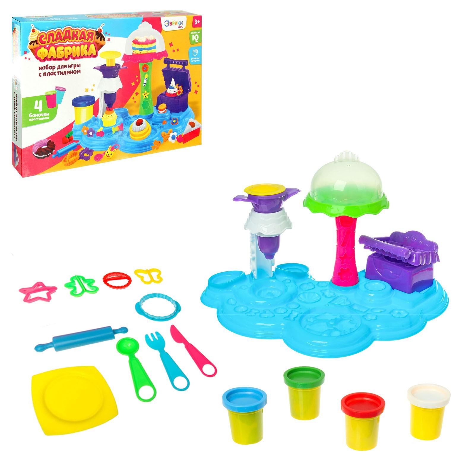 Набор для игры с пластилином «Сладкая фабрика»